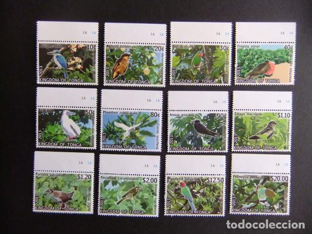 Sellos: KINGDOM of TONGA 2013 FAUNA Pajaros Birds Oiseaux Cat nº 1835 / 1846 ** MNH - Foto 1 - 110437071