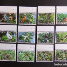 Sellos: KINGDOM OF TONGA 2013 FAUNA PAJAROS BIRDS OISEAUX CAT Nº 1835 / 1846 ** MNH . Lote 110437071