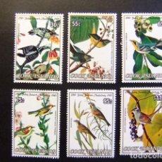 Sellos: COOK ISLANDS 1985 OISEAUX PAJAROS -ORNITOLOGO J.J. AUDUBON YVERT 815 / 820 ** SG 1015 /20 **. Lote 111162751