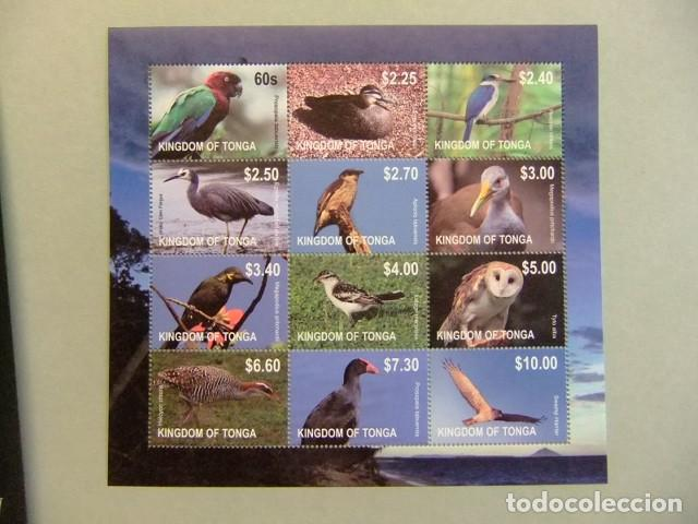 KINGDOM OF TONGA FAUNA BIRDS PAJAROS OISEAUX YVERT ** MNH (Sellos - Temáticas - Fauna)