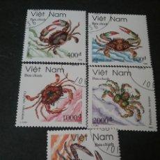 Sellos: SELLOS DE VIETNAM MTDOS. 1993. CANGREJOS. VIDA MARINA. CRUSTACEOS. ANIMALES. MATURALEZA. CARROÑEROS.. Lote 111950175