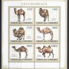 Sellos: COMORES 2009 IVERT 1435/40 *** FAUNA - CAMELLOS. Lote 113671699