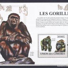 Sellos: COMORES 2009 HB IVERT 160 *** FAUNA SALVAJE - LOS GORILAS. Lote 113692627