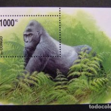 Sellos: CONGO 2002 WWF GORILA DE MONTAÑA PROTECCIÓN DE LA FAUNA YVERT BLOC 69 ** MNH. Lote 113832203