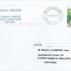 Sellos: AÑO 2004. FRANCIA. SOBRE CIRCULADO SELLO TEMA AVES.. Lote 115313107
