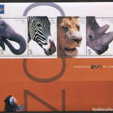 Sellos: PORTUGAL - ZOO DE LISBOA - HB (2001) **. Lote 116434927