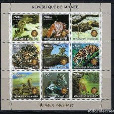 Sellos: R. GUINEA 2002 *** FAUNA SALVAJE - EL JAGUAR. Lote 117145487