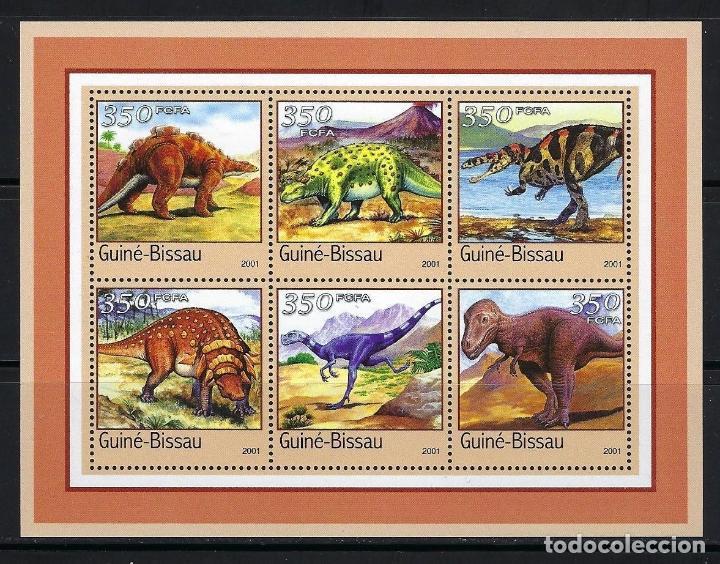GUINEA BISSAU 2001 *** FAUNA PREHISTORICA (Sellos - Temáticas - Fauna)