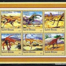 Sellos: GUINEA BISSAU 2001 *** FAUNA PREHISTORICA. Lote 117146035