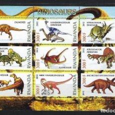 Sellos: RWANDA 2012 *** FAUNA PREHISTORICA - DINOSAURIOS. Lote 117152531