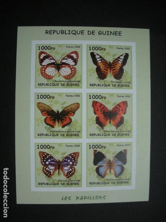 GUINEA 2002 *** FAUNA - MARIPOSAS (Sellos - Temáticas - Fauna)