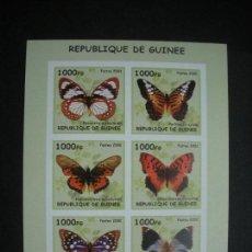 Sellos: GUINEA 2002 *** FAUNA - MARIPOSAS. Lote 120602199