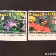 Sellos: KINGDOM OF TONGA 2016 BUTTERFLIES MARIPOSAS PAPILLIONS YVERT ** MNH. Lote 121203571