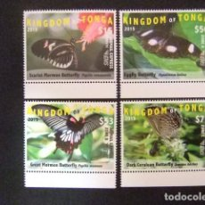 Sellos: KINGDOM OF TONGA 2015 BUTTERFLIES MARIPOSAS PAPILLIONS YVERT ** MNH. Lote 121203755