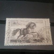 Sellos: SELLOS DE CHECOSLOVAQUIA MATASELLADOS. 1969. CABALLO. MAMIFEROS. EQUINOS. TROTA. PINTURA. SALTO.. Lote 121959096