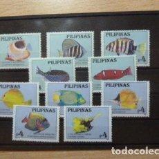 Sellos: FILIPINAS 1996 IVERT 2243/52 *** FAUNA MARINA - PECES DE ACUARIO DE FILIPINAS (II). Lote 122010711