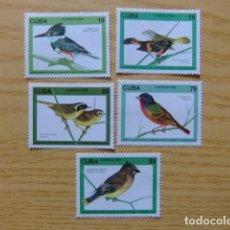 Sellos: CUBA 1996 FAUNE OISEAU PAJARO BIRDS YVERT 3525 / 3529 ** MNH. Lote 122062055