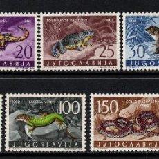 Sellos: YUGOSLAVIA 1962 IVERT 905/13 *** FAUNA - REPTILES. Lote 122091327