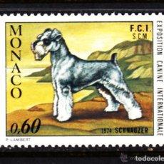 Sellos: MONACO 1974 IVERT 963 *** EXPOSICIÓN CANINA INTERNACIONAL MONTECARLO - PERROS - FAUNA -SCHNAUZER. Lote 122118083