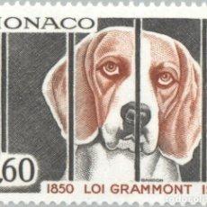 Sellos: MONACO 1975 IVERT 1031 *** 125º ANIVERSARIO DE LA LEY PARA LA PROTECCIÓN DE ANIMALES - FAUNA - PERRO. Lote 122118479