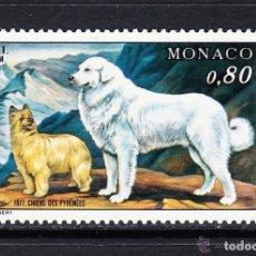 Sellos: MONACO 1977 IVERT 1093 *** EXPOSICIÓN CANINA INTERNACIONAL MONTECARLO - PERROS DE PIRINEOS - FAUNA. Lote 122119031