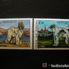 Sellos: MONACO 1978 IVERT 1163/4 *** EXPOSICIÓN CANINA INTERNACIONAL MONTECARLO - PERROS - FAUNA. Lote 122119343
