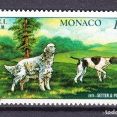 Sellos: MONACO 1979 IVERT 1208 *** EXPOSICIÓN CANINA INTERNACIONAL MONTECARLO - FAUNA - SETTER Y POINTER. Lote 122119975