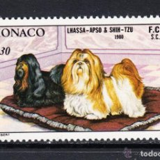 Sellos: MONACO 1980 IVERT 1232 *** EXPOSICIÓN CANINA INTERNACIONAL MONTECARLO - PERROS - FAUNA. Lote 122120591