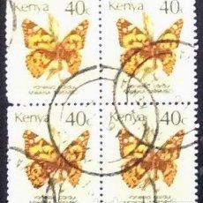 Sellos: BLOQUE DE 4 DEL YVERT 412, KENYA.. Lote 122613723