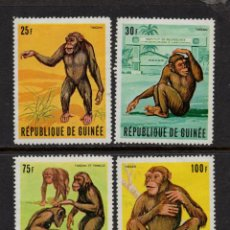 Sellos: GUINEA 382/85** - AÑO 1969 - FAUNA - MONOS. Lote 126267243