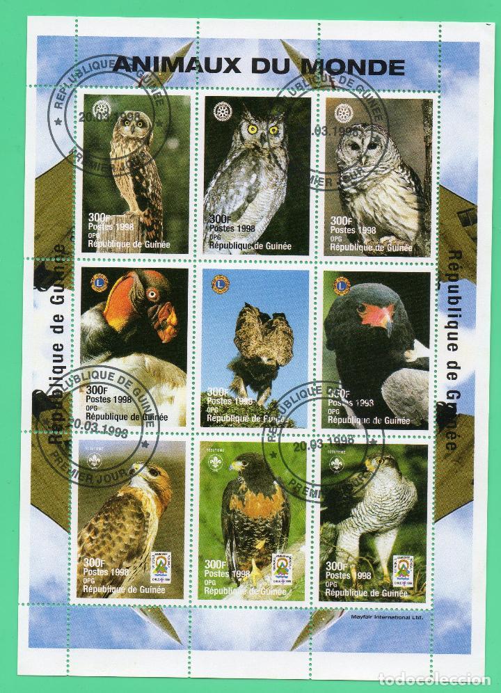 PLIEGO HB REPUBLICA DE GUINEA Nº 1213/21 ANIMALES DEL MUNDO AVES PRIMER DIA (Sellos - Temáticas - Fauna)