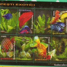 Sellos: HB RUMANIA 2005 PECES EXOTICOS FAUNA . Lote 129098395