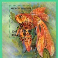 Sellos: HB MADAGASCAR 1994 FAUNA PECES. Lote 129100603