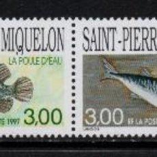 Sellos: SAN PIERRE 646/49** - AÑO 1997 - FAUNA MARINA - PECES. Lote 133921682