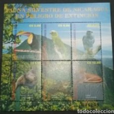 Sellos: MP (6V) NICARAGUA NUEVA. 2001/FAUNA/FLORA/ANIMALES/NATURALEZA/AVES/FELINOS/MONOS/TUCAN/LORO/SELVA/BO. Lote 134341306