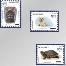 Sellos: HONDURAS UPAEP 2018 SERIE MNH ANIMALES 3 SELLOS. Lote 134348593