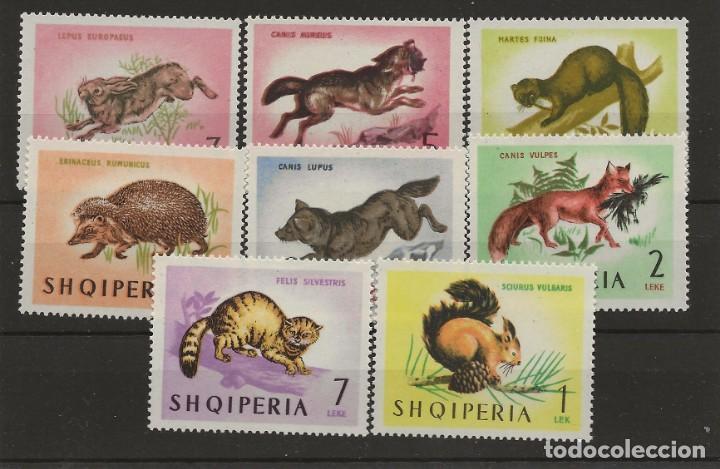 R43/ ALBANIA, IVERT 677/84 MNH ** (Sellos - Temáticas - Fauna)