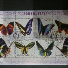 Sellos: HB R. GUINEA-BISSAU MTDAS/2006/FAUNA, MARIPOSAS/ANIMALES/INSECTOS/NATURALEZA/. Lote 138888180