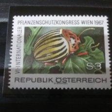 Sellos: SELLOS AUSTRIA (OSTERREICH) NUEVOS/1967/6 CONGRESO PROTECCION/INSACTOS/NATURALEZA/FAUNA/FLORA/ESCARA. Lote 140165890