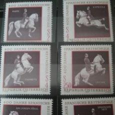 Sellos: SELLOS AUSTRIA (OSTERREICH) NUEVOS/1972/CABALLOS/400 ANIV. ESCUELA ESPAÑOLA/DOMA/MAMIFERO/FAUNA/EQUI. Lote 140220033