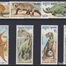 Sellos: CAMBOYA - KAMPUCHEA 1986 IVERT 618/24 *** FAUNA - ANIMALES PREHISTÓRICOS. Lote 142042766