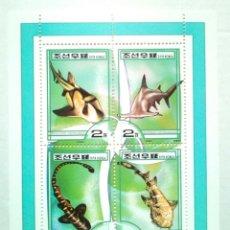 Sellos - Fauna marina tiburones hoja bloque de sellos nuevos de Korea - 143315850