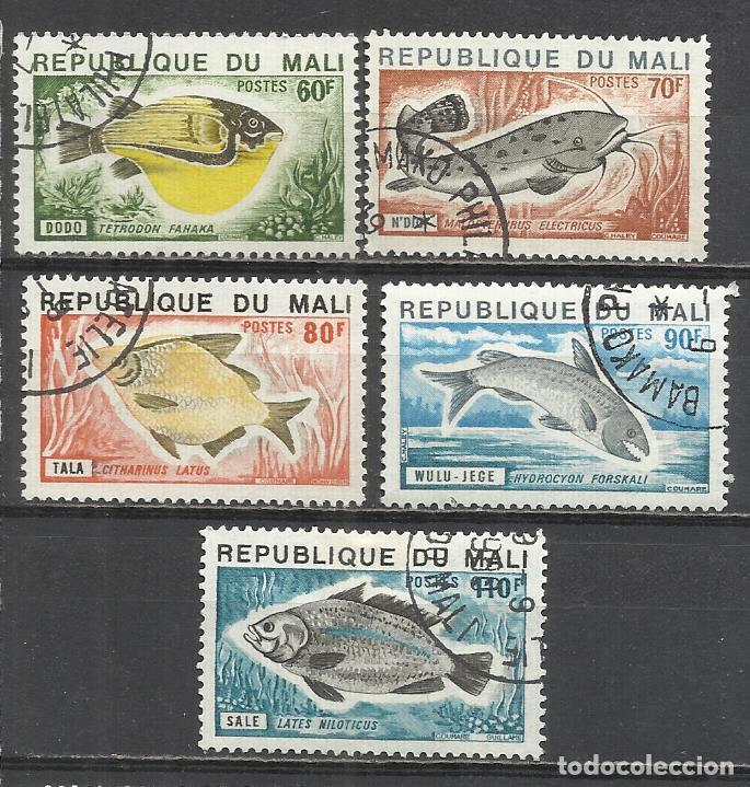 350-SELLOS SERIE COMPLETA 1957 Nº 236/40 PECES MALI COLONIA FRANCESA,FAUNA MARINA.BONITOS SELLOS TE (Sellos - Temáticas - Fauna)