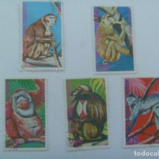 Sellos: LOTE DE 5 SELLOS DE GUINEA ECUATORIAL : MONOS , SIMIOS. Lote 149908550
