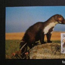 Sellos: LIECHTENSTEIN-1993-CARTA MAXIMA-80R.. Y&T 1007-FAUNA-ANIMALES DE CAZA. Lote 151606102