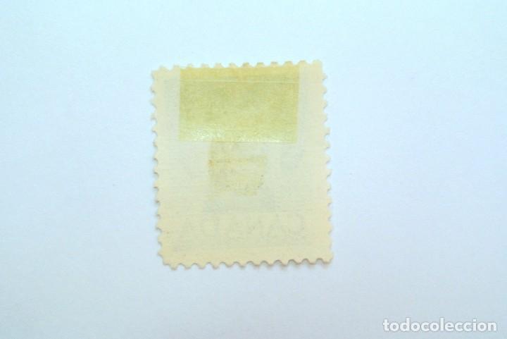 Sellos: Sello postal CANADA 1953, 4 Cents , BORREGO CIMARRON ,CONMEMORATIVO, Usado - Foto 2 - 153091282