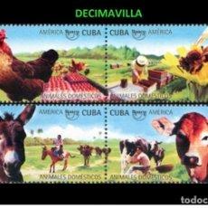 Sellos: CUBA, UPAEP, ANIMALES DOMESTICOS, 2018, FAVR407. Lote 155666550