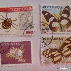 Sellos: LOTE DE 4 SELLOS DE MOZAMBIQUE : BICHOS , MARIPOSAS. Lote 156380678