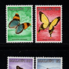 Sellos: MALAWI 436/39** - AÑO 1984 - FAUNA - MARIPOSAS. Lote 156512606
