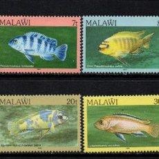 Sellos: MALAWI 473/80** - AÑO 1986 - FAUNA - PECES. Lote 156513262